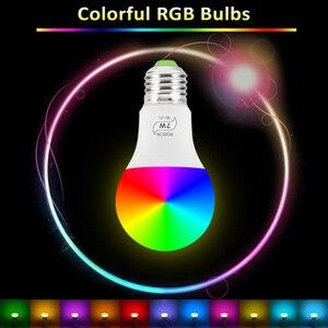 Image 2 - קסם 7W E27 RGB WIFI Led חכם הנורה אור אלחוטי חכם בית אוטומציה מנורה, 85 265V הנורה תואם עבור ALexa Google בית