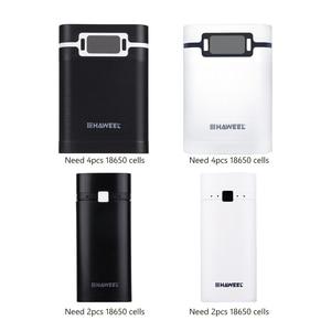 Чехол для аккумулятора 18650, 5 В, 2/4 слота, 5600 мА/ч, 10000 мА/ч, чехол для зарядного устройства, чехол для 2/4x18650 Li-ion батарей