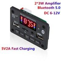 12V Car USB lettore MP3 Bluetooth 5.0 modulo scheda di decodifica decodificatore MP3 WMA WAV TF Card Slot / USB / FM modulo scheda remota