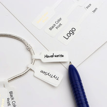100pcs Square Head Bracelet Ring Logo Lable Custom Price Tags For Jewelry Display Making Packaging Accessories Finding Wholesale