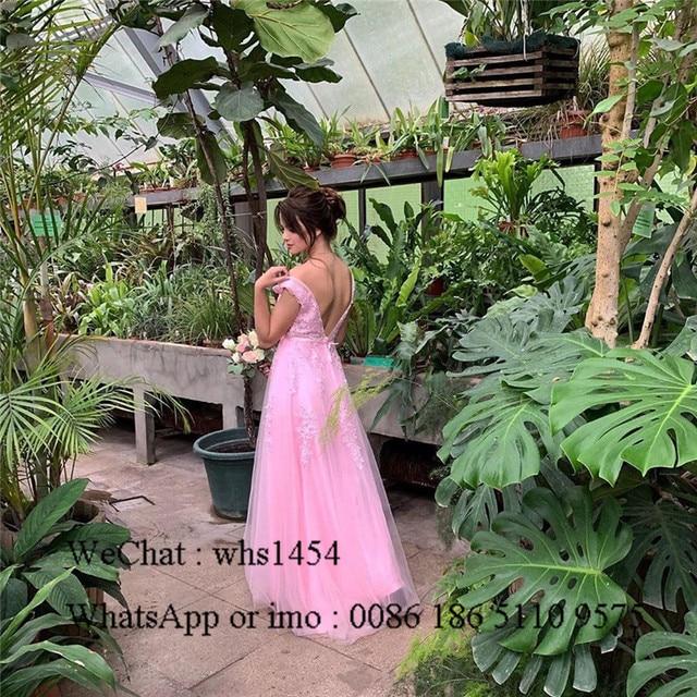 Mbcullyd V-neck Light Blue Bridesmaid Dresses For Women 2020 Long Wedding Guest Dress Applique Lace sukienki na wesele damskie 2