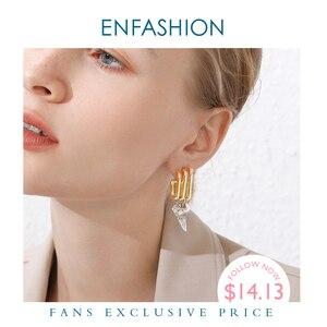 Image 1 - ENFASHION Punk Multiple C Shape Stud Earrings For Women Gold Color OL Minimalist Geometric Earings Fashion Jewelry E191079