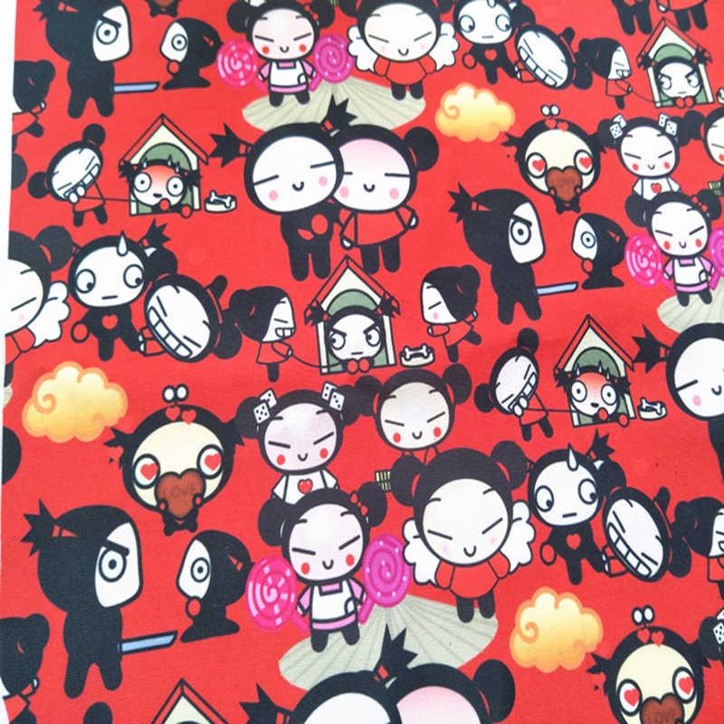Gute Rot Cartoon Polyester Leinwand Stoff Für Sofa Pucca Nette Puppe Druck Polyester Stoff Diy Tasche Nähen Hause Patchwork Kissen Stoff Aliexpress