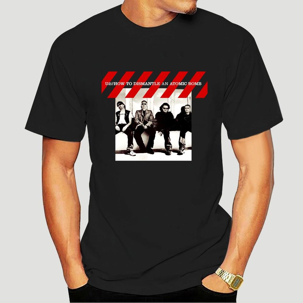 Rock Band U2 Joshua Tree T Shirt Alternative Rock Short Sleeve Moon And Atar Design Tee 7017K