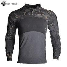 Camisas de combate comprovadas roupas táticas militar uniforme cp camuflagem airsoft exército terno respirável trabalho roupas