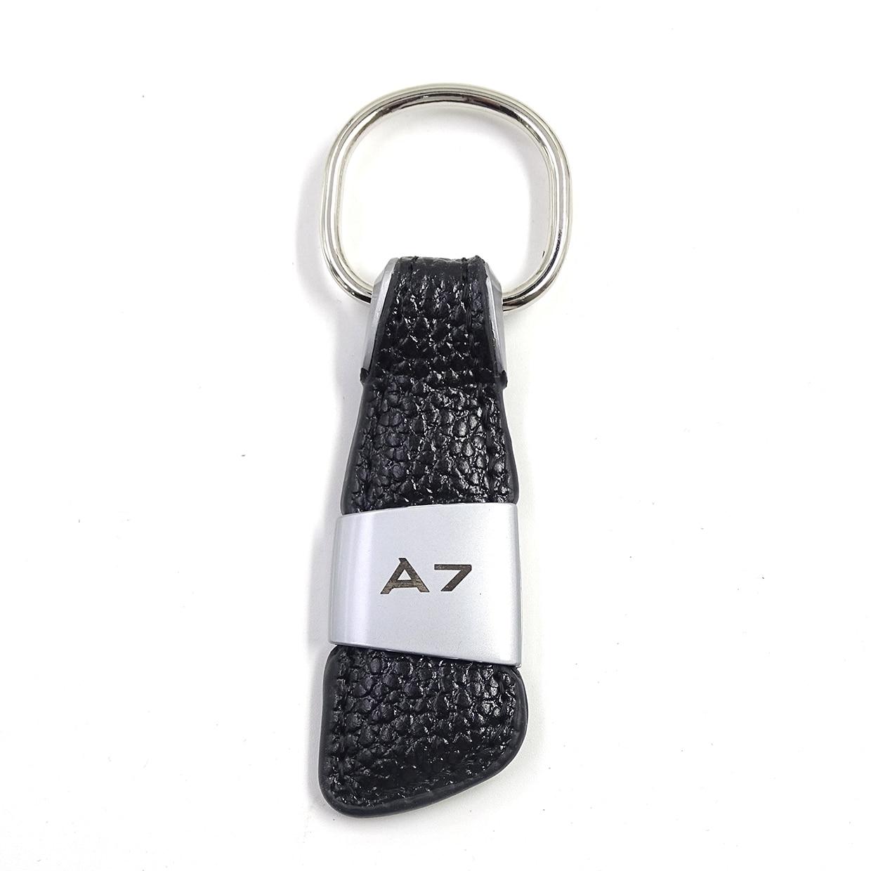 Автомобильная эмблема, значок из натуральной кожи, брелок для Audi A1 A3 A4 A5 A6 A8 TT Q2 Q3 Q5 Q7 Q8, брелок для ключей, автомобильный стиль - Название цвета: 1pcs A7