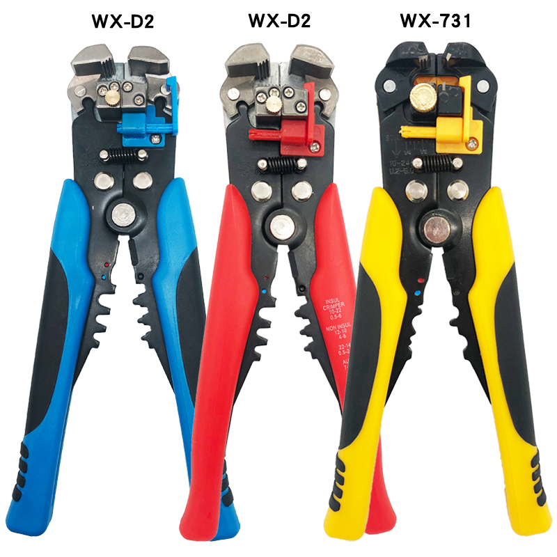 Automatic Wire Stripper WX-D2 Cable Cutter Multifunctiona Pressing Pliers Terminal 0.2 - 6mm Electrician Repair Tools