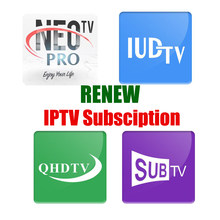 Renew SUBTV QHDTV 1 Year French Arabic Channels Netherlands African USA UK European IPTV Subscription for Android TV Box Smart(China)