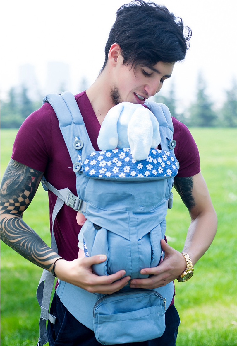 Adjustable 0-36M Ergonomic Baby Carriers Backpack Portable Baby Sling Wrap Cotton OMNI 360 Infant Newborn Kangaroo Bag Hipseat title=