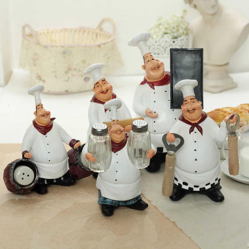 Украшения для дома подарки рукоделие смола шеф-повара особенности маленькое украшение Ресторан Бар Кафе Европейская мода креативный ретро