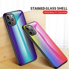 Fashion Glass Case sFor iPhone 11 Pro Max Cute Soft Silicone Anti-fall Cover For X XS XR