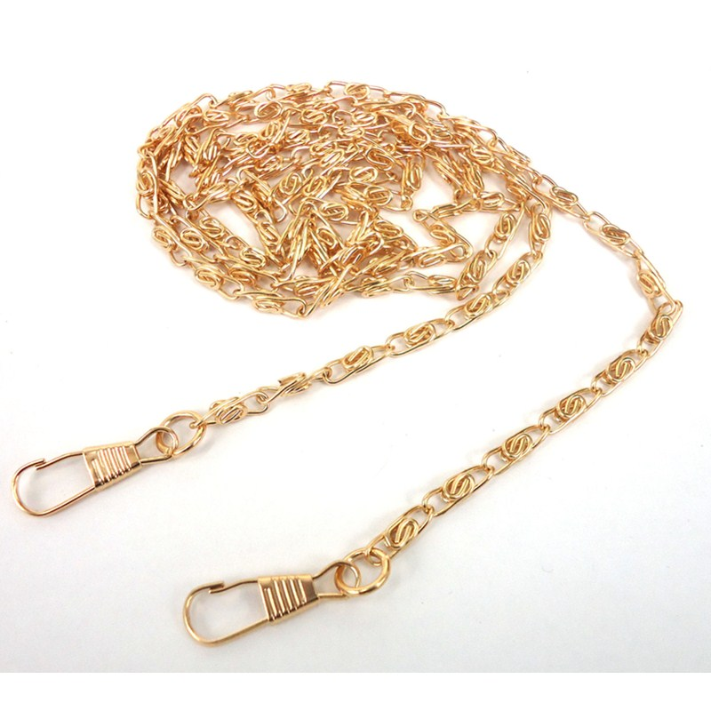 120cm Stainless Steel Purse DIY Hardware Chain Crossbody Shoulder Strap Bags Metal Handbag Accessories Clasp Color Gold Silver