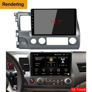 Image 5 - 2Din Car DVD Frame Audio Fitting Adaptor Dash Trim Kits Facia Panel 10.1inch For Honda Civic Left2007 11 Double Din Radio Player