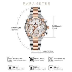Image 4 - Bayanlar bilek saatler üst marka lüks iş kadınları saatler 3ATM yeni moda kadın saat çelik bilezik Relogio Feminno 836