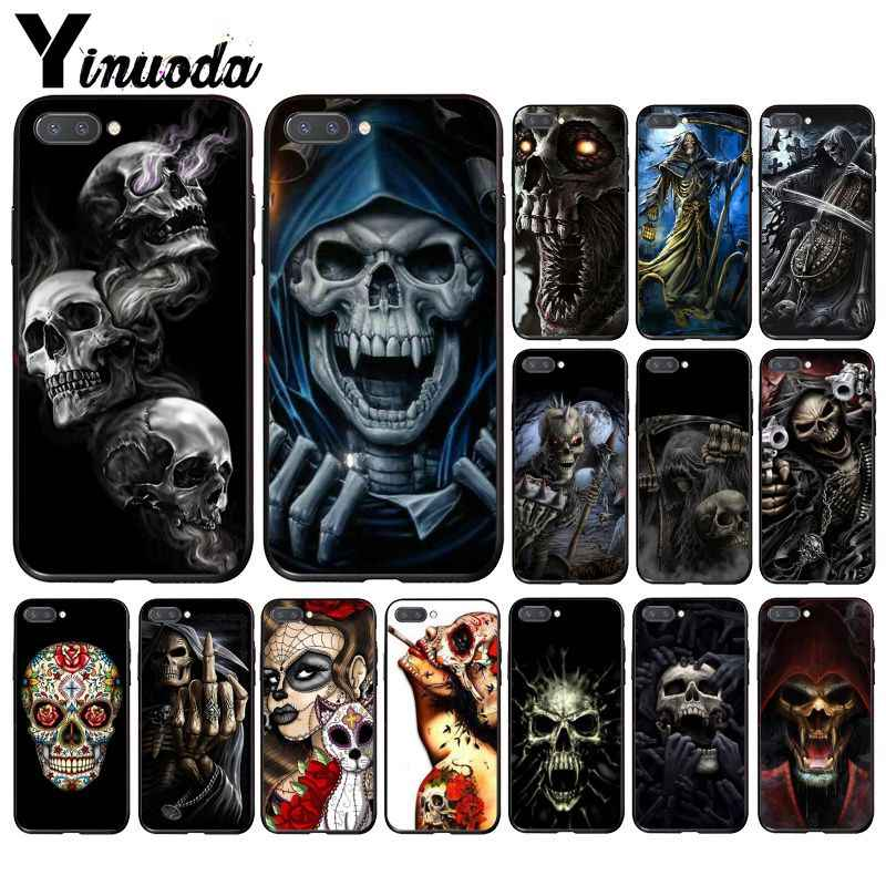 Yinuoda Grim Reaper Skull Skeleton Phone Case for Huawei Honor 8A 8X 9 10 20 Lite 7A 5A 7C 10i 20i