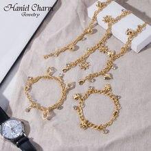 2021 moda lucky elephant coração charme pulseiras & pulseiras de ouro para as mulheres corrente charme pulseira festa de aniversário presente