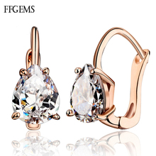 Elegant 100% 10K Gold Sterling Moissanite Earring Pear Cut 6*8mm Au585 Fine Jewelry