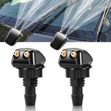 Frente do carro pára-brisas lavadora jet bocais de água para mitsubishi ralliart outlander asx mirage lancer evolução 10 9 etc