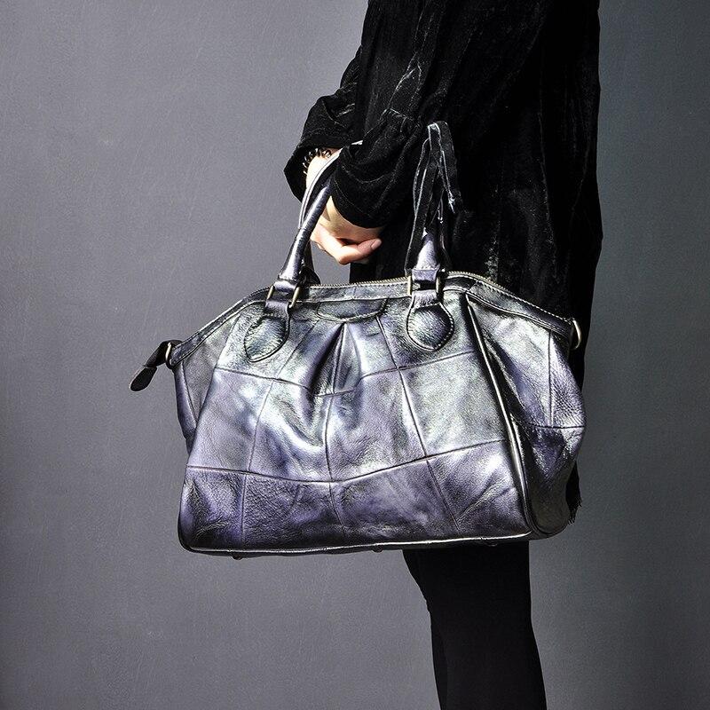 Qualidade de couro feminino casual desinger bolsa