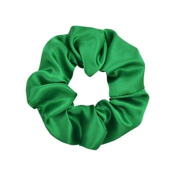 3.9 inch Women Silk Scrunchie Elastic Handmade Multicolor  Hair Band Ponytail Holder Headband Hair Accessories 27