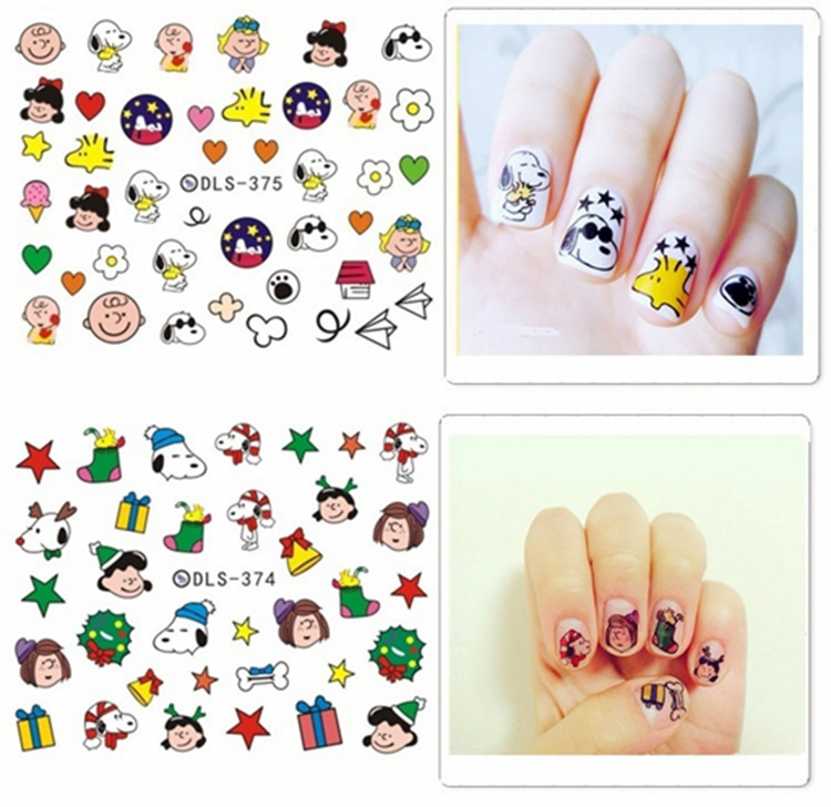 Special Offer Nail Sticker Watermark Flower Stickers South Korea Export Phototherapy Nail Polish Cartoon Snow White Princess Cra