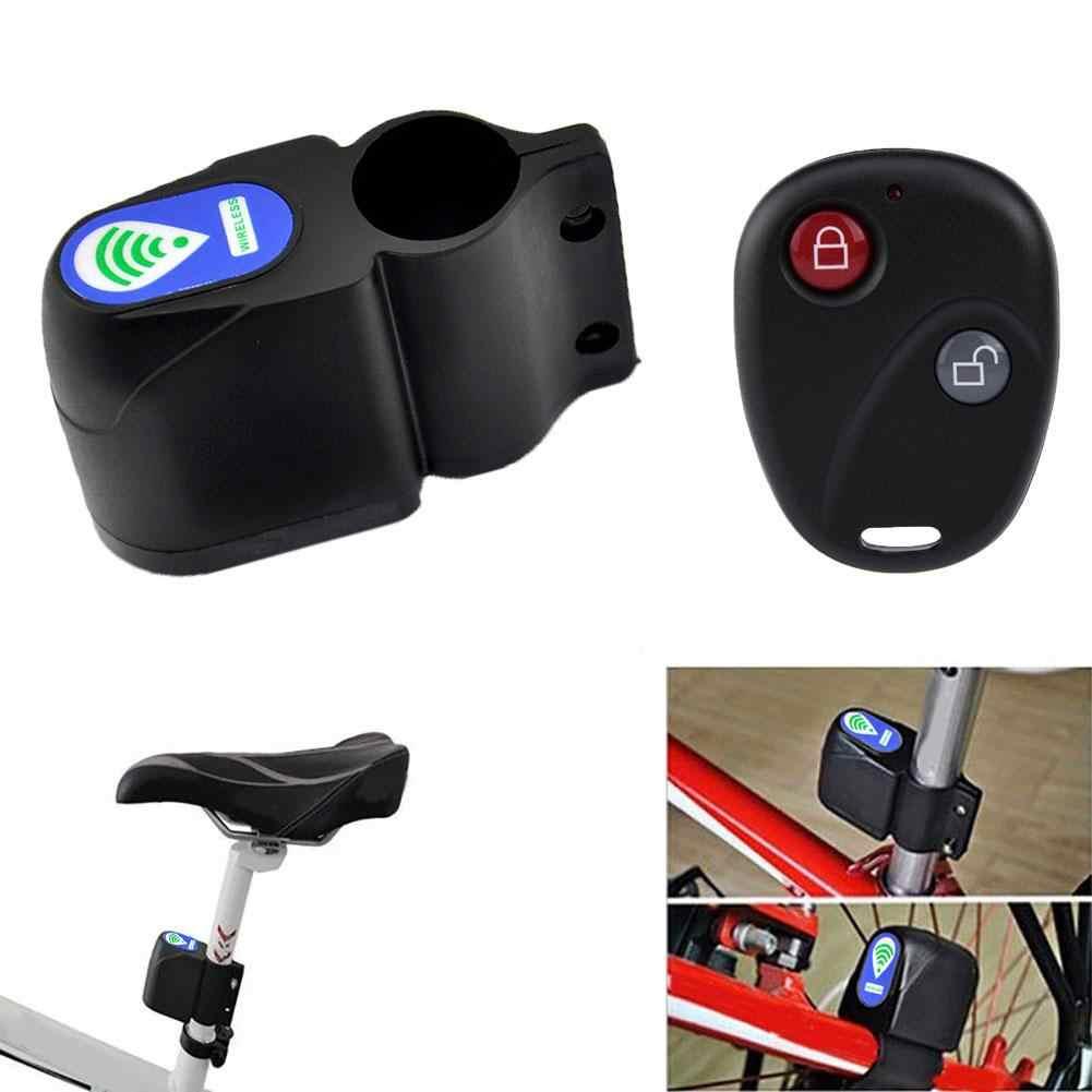 Baru Sepeda Alarm Kunci Sepeda Motor Anti-Theft Bersepeda Keamanan Suara Alarm Keras Keamanan MTB Mencuri Kunci dengan Remote kontrol