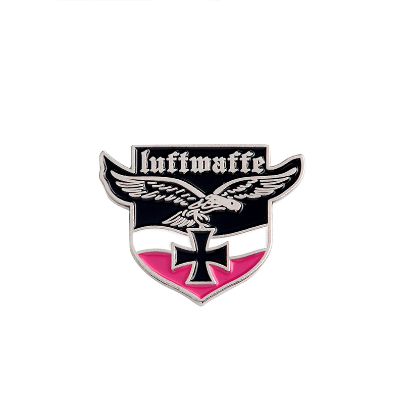 Немецкая военно-морская армия, военно-воздушные силы, булавка, танк, Воздушный самолет, линкор, эмалированные броши для одежды, сумки, орла, нагрудные значки, Винтажные Ювелирные изделия, подарок - Окраска металла: Eagle army