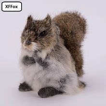 cute simulation natural colour squirrel model polyethylene&furs real life squirrel doll gift 20x10x14cm xf2260 цена