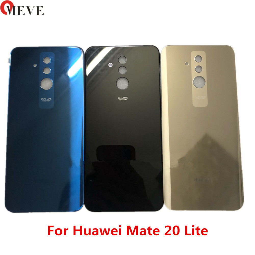 100% Original 3D Glass 6.3'' For Huawei Mate 20 Lite Glass Back Battery Cover Case Rear For Mate 20 Lite Rear Door