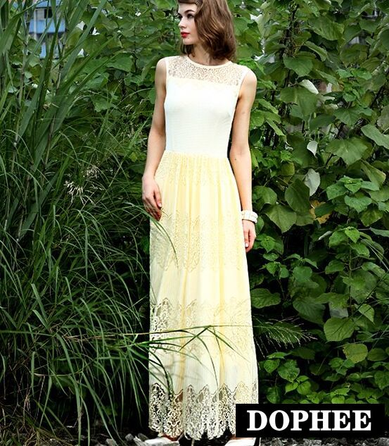 Весна и лето принцесса кружева платья - Женская одежда - Фотография 2