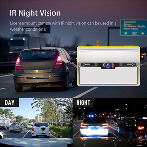 Image 5 - YuanTing سيارة العالمي السلكية للماء لوحة ترخيص للرؤية الليلية احتياطية عكس كاميرا + 4.3 بوصة TFT LCD شاشة الرؤية الخلفية