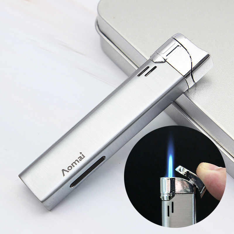Ramping Mini Torch Turbo Lighter Logam Butane Cigarette Lighter Gas Rokok 1300 C Windproof Lighter Merokok Aksesoris