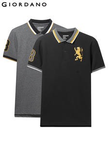 Giordano Men Tops Polo-Shirt Short-Sleeve Embroidered-Pattern Fashion Summer Brand 2