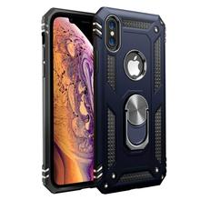 YOACHEY Shockproof Armor Case For iPhone X XS MAX XR 7 8 6 S 6S Plus Car Magnetic Suction Finger Ring Holder Phone Cover Coque цена и фото