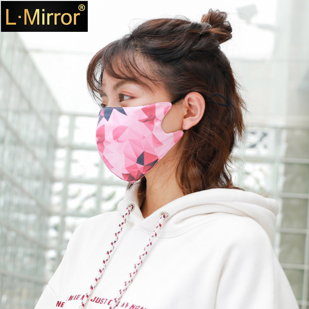 L.Mirror 1Pc Reusable Windproof Mouth Mask Cotton Anti Dust Nose Protection Face Mouth Mask Fashion Anti-Pollution Air Masks New