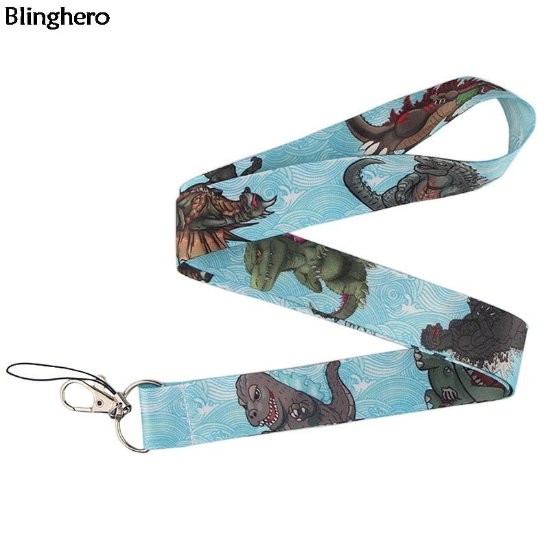 Blinghero Dinosaur Lanyard For Keys Cool Phone Strap Lanyard Animal Print ID Badge Holder Gifts For Family Friends ZC0226