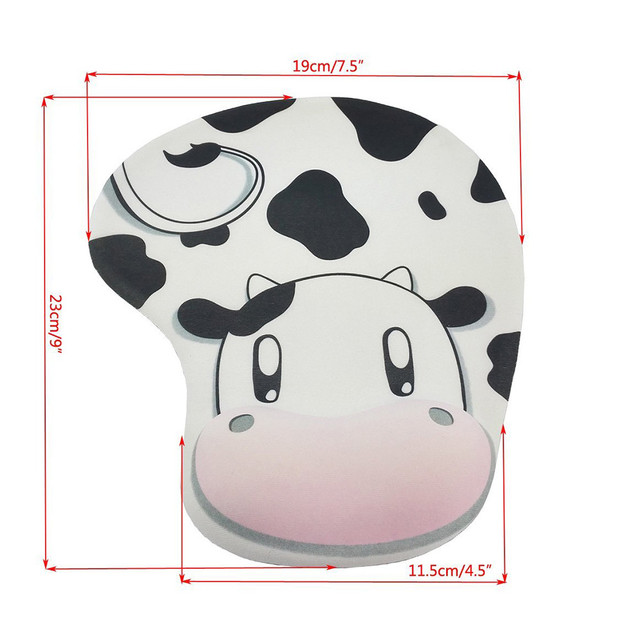 Cute Cow Anti-Slip Gaming Mouse Pad Mat With Gel Wrist Support For PC Macbook Laptop Mousepad Gamer Desk Mat Accessories