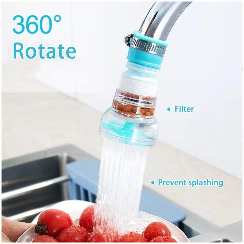 Фильтр для воды для очистки воды очиститель насадка фильтр вращения Кухня носик для крана распылители PVC душевой кран регулятор расхода вод...