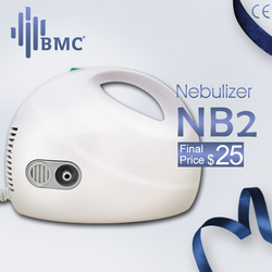 Bmc cuidados de saúde da família nebulizador comprimido adulto crianças asma inalador nebulizador médico handheld dispositivo de vapor automático