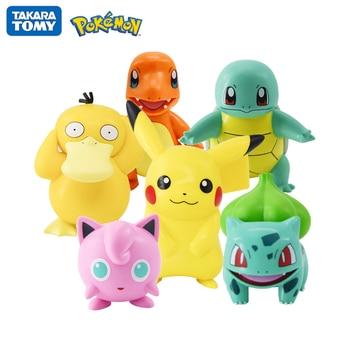 Original Pokemon Pikachu Figures Dolls Cartoon Pokémon Squirtle Charmander Psyduck Purin Anime Model Toys Kids Birthday Gift 1