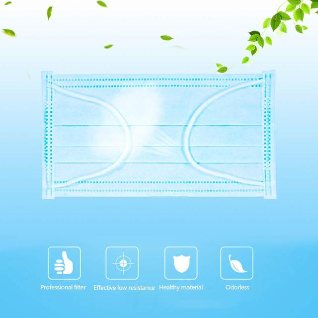 PM2.5 Profession  Mask 100PCS Anti-Dust 3-Ply Nonwoven Disposable Elastic Mouth Soft Breathable Flu Hygiene Face Mask Kid 2