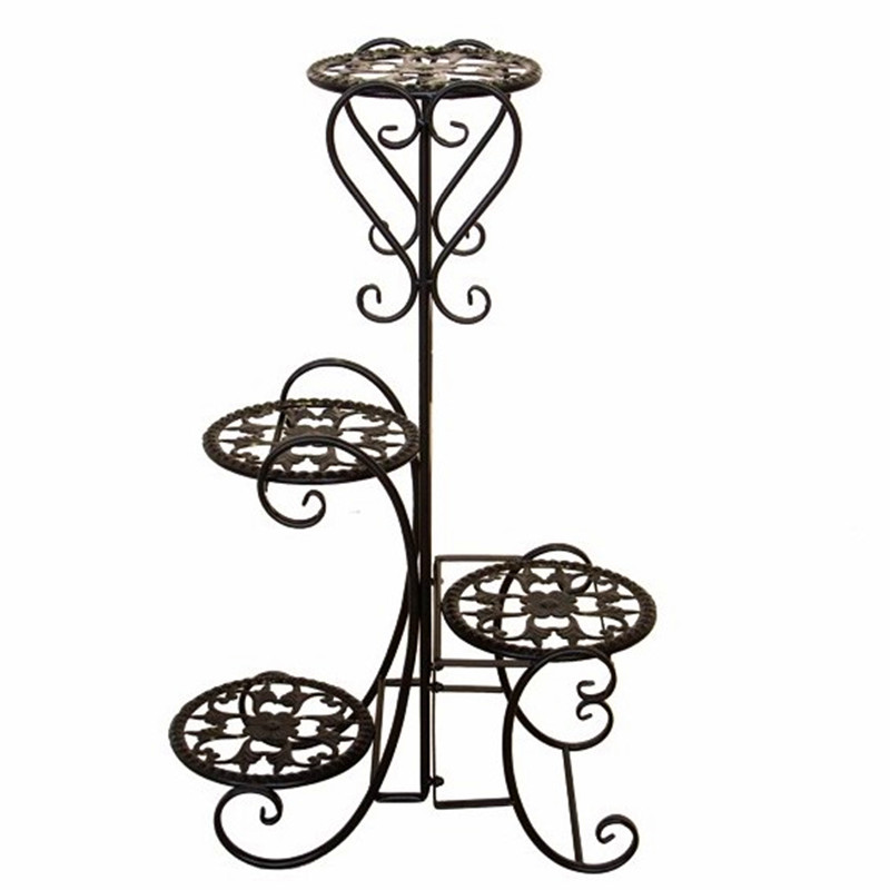 Iron Flower Stand Floor-standing  Pot Rack Multi-layer Indoor And Outdoor European Living Room Balcony  Shelf