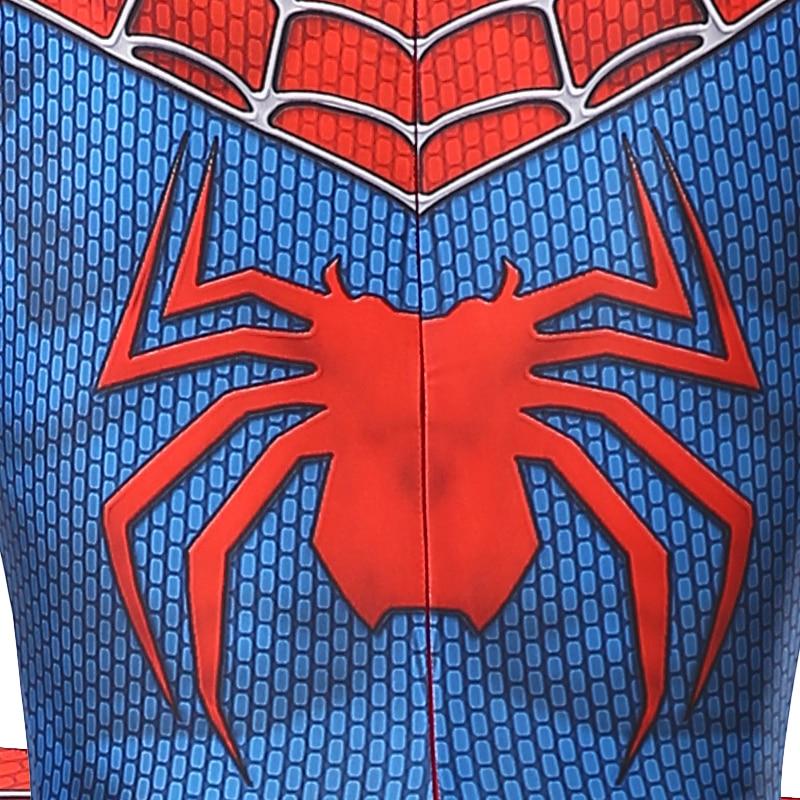 Laste ja täiskasvanute Spiderman kostüüm - punane ja must variant pikkusele 100-190cm 4