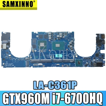 High quality for XPS 15 9550 Laptop motherboard LA-C361P 0Y9N5X CN-0Y9N5X DDR4 with i7-6700HQ CPU GTX960M GPU 100% working well