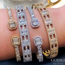 Bangle-Cuff Stackable Women Jewelry Dubai Bracelet Crystal Wedding Luxury GODKI Trendy
