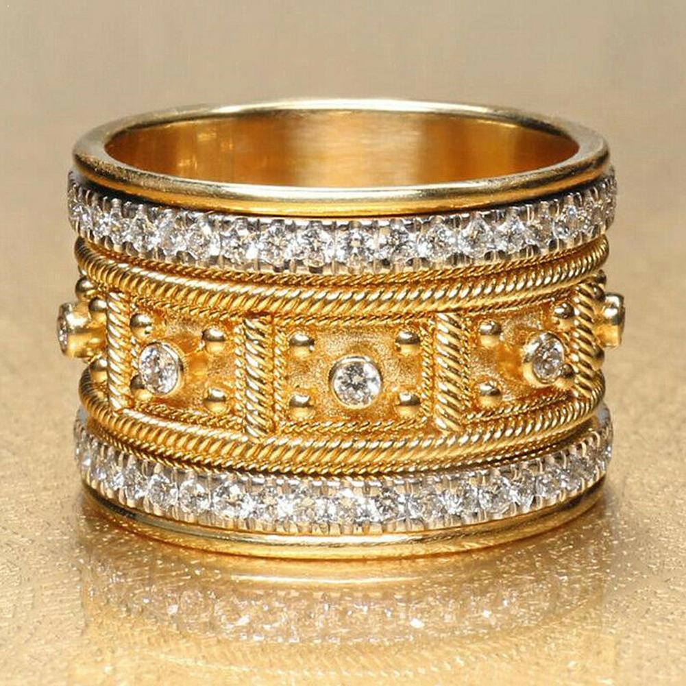 Великолепное Женское Обручальное кольцо с покрытием из 18-каратного желтого золота, сапфировое ювелирное изделие, размер 6-10, Белое Женское к...