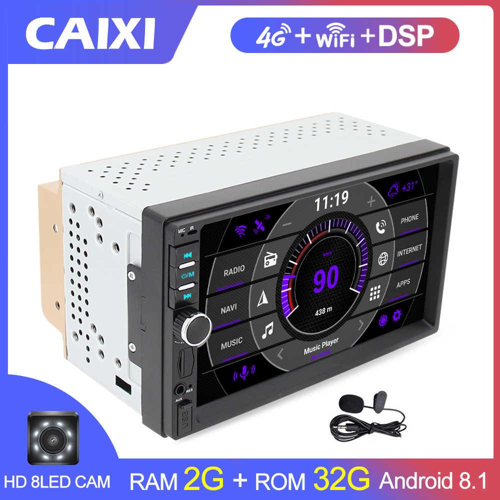 Coche Android 8,1 auto Radio estéreo navegación GPS Bluetooth wifi Universal 2din auto Radio estéreo Quad Core Audio Multimedia jugar