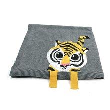С изображением тигра; детское одеяло вязаный, для новорожденных пеленать Обёрточная бумага Одеяло s супер мягкие постельные принадлежности для малышей Стёганое одеяло Одеяло s