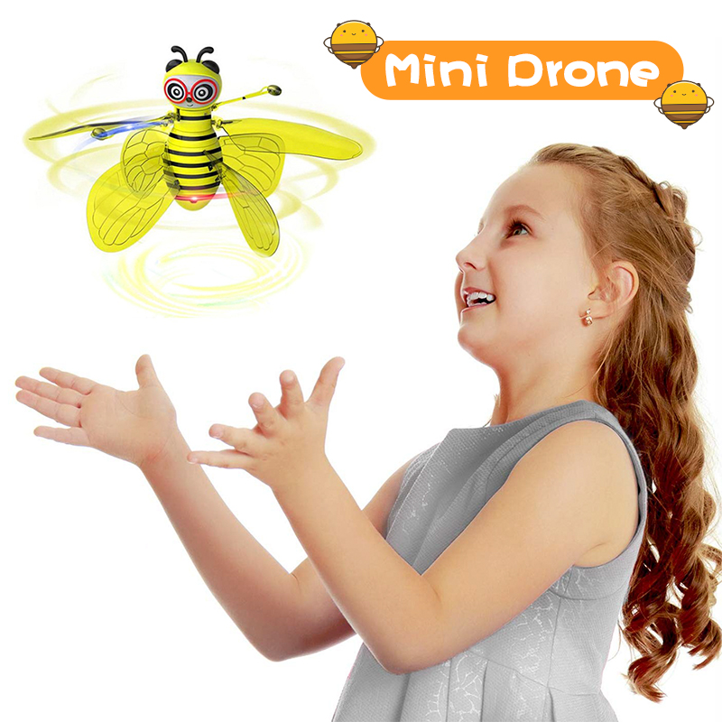 Mini Drone Of Induction By Hand Flying Bee Aircraft Anti-collision RC Helicopter Dron Quadrocopter Toys Gift For Boys Girls Kids