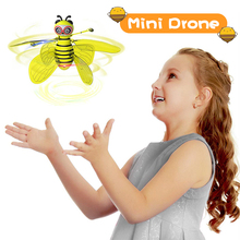 Mini Drone of Induction by Hand Flying Bee Aircraft Anti-collision RC Helicopter